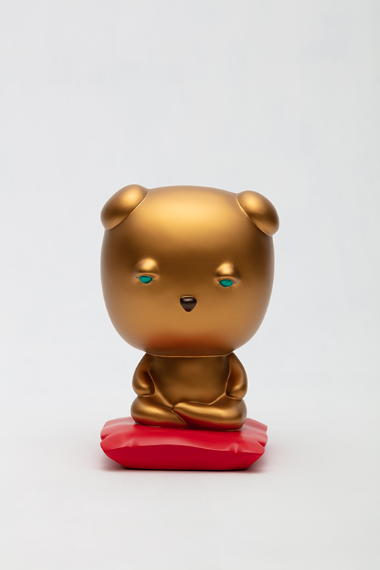 Meditating Gold Sleebu, front view.jpg
