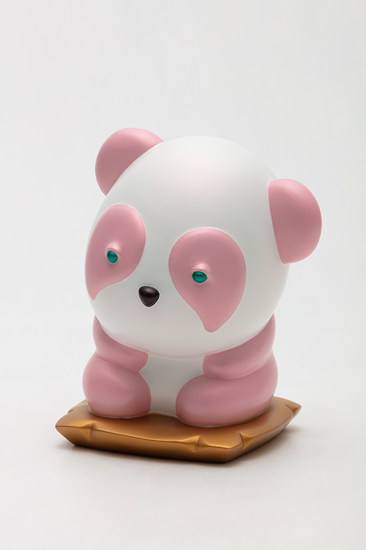 Pink Pandaru in Thought, 20x17x25cm, urethane paint on plastic, 2020.jpg
