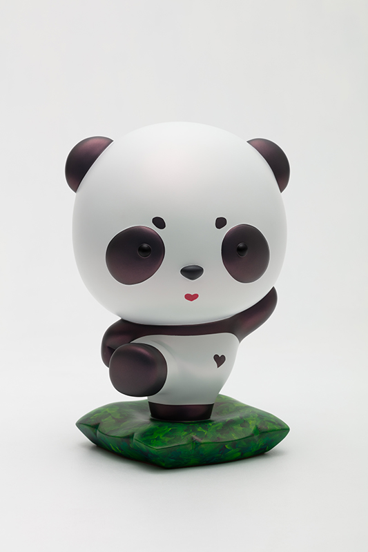 Advancing Panda Fubao with JISOO, 18x16.5x26.5cm, urethane paint on plastic, 2020.jpg