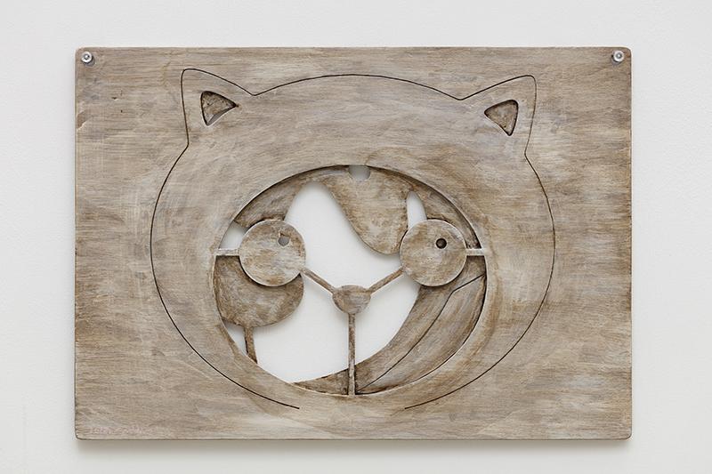 Antique face of Clo and Suki, 42x30x0.5cm, milk paint on wood, 2018.jpg