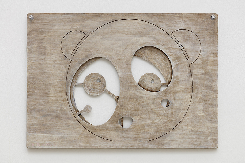 Antique face of Odie and Clo, 42x30x0.5cm, milk paint on wood, 2018.jpg