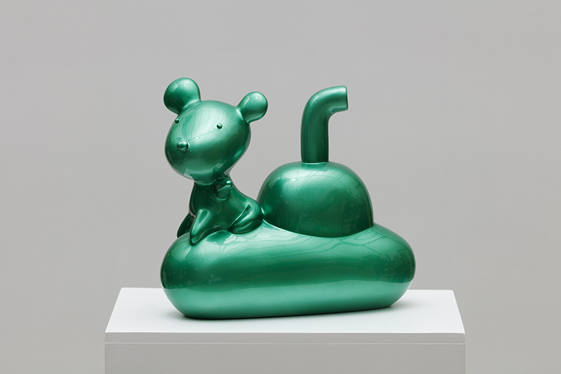 Green Candy Sudaru Submarine, 30x14x27cm, car paint on plastic, 2018.jpg