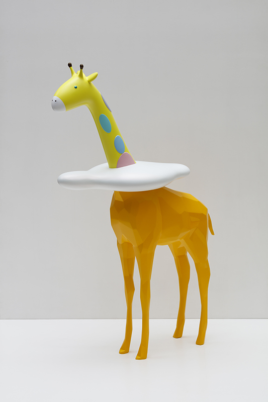 Sky High - Cloud Giraffe Rudi, 32x80x120cm, car paint on plastic, 2018.jpg