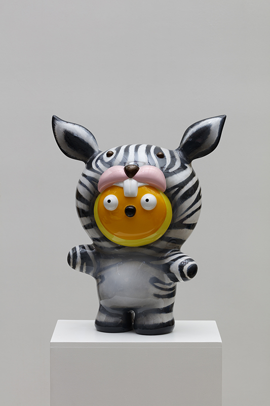 Taehee want to be a Zebra, 43x25x53cm, car paint on plastic, 2018.jpg