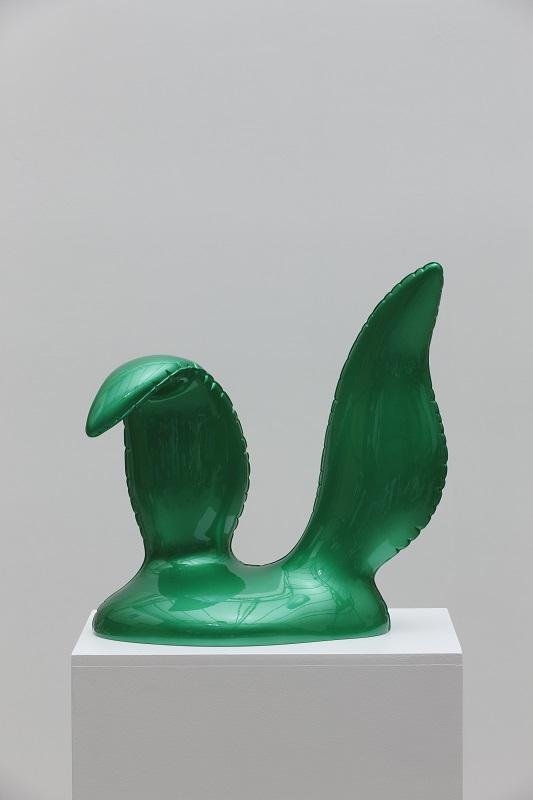 Green Candy Balloon Rudi's Ears, 37x17x39cm, car paint on plastic, 2016.jpg