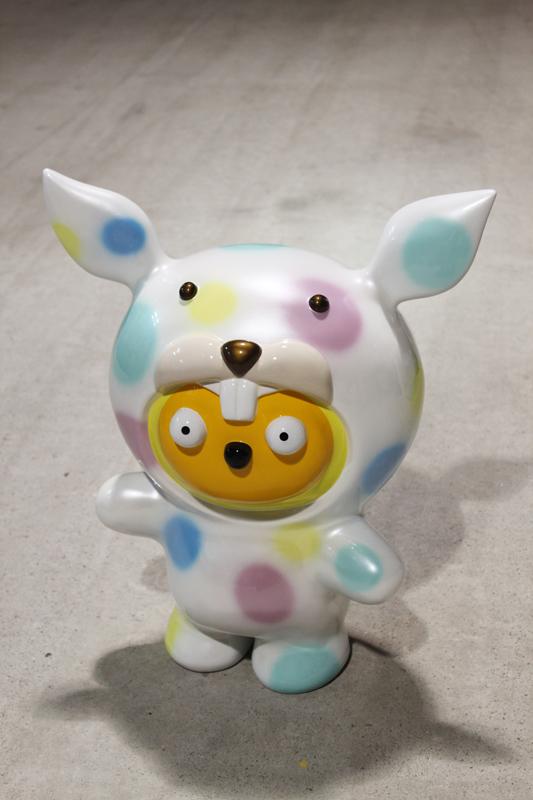 Taehee wanna be a honey rabbit, 43x25x52cm, car paint on plastic, 2011.JPG