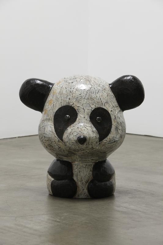 Wood Mink Pandaru, 50x39x50cm, milk paint on wood, 2011.JPG
