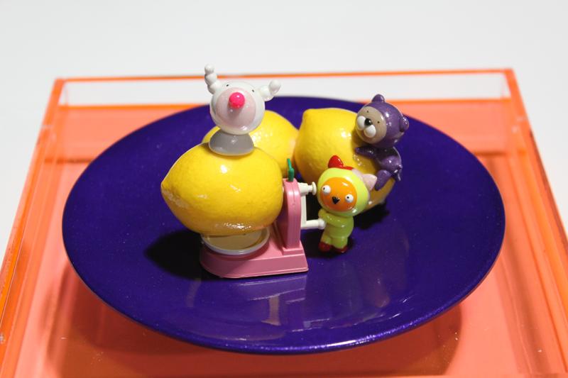Yummy Cake 09-20, 20x20x18cm, polymer clay, 2009.JPG