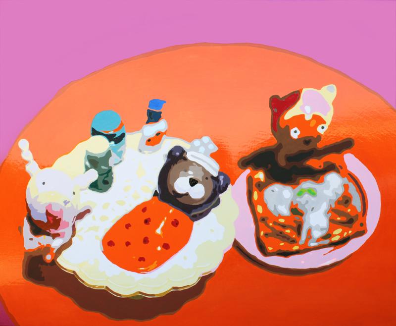 Missing you-Taehee, Hayami, Haedaru 100, acrylic on canvas, 162x130cm, 2009.jpg