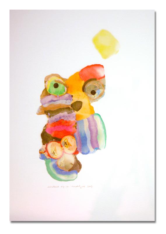Mutant 07-10, 37x55cm, oil based clay on paper, 2007.jpg
