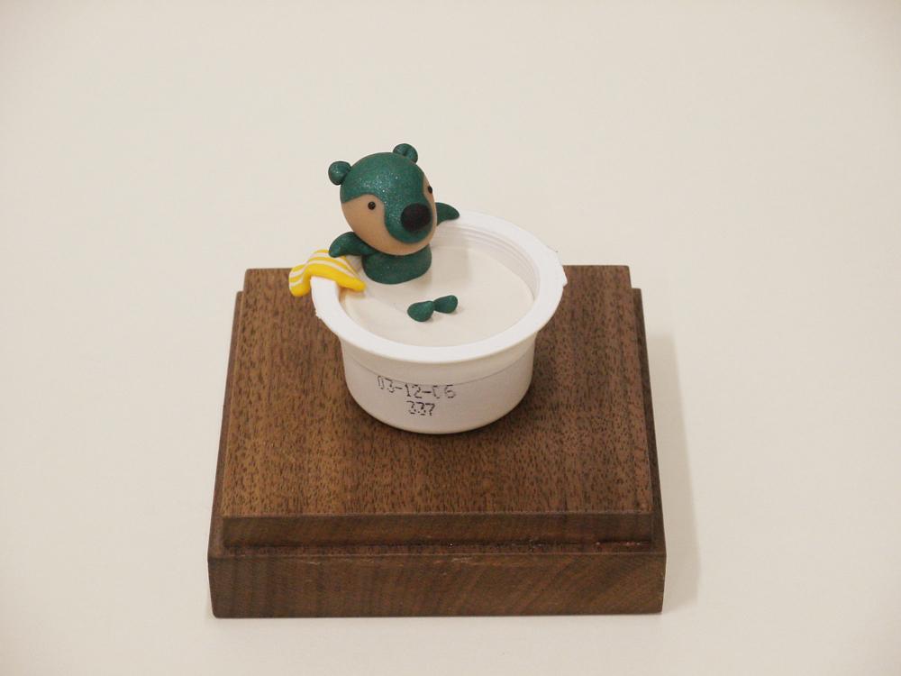 Happy Bath Sudaru, 10x10x10cm, polymer clay, 2006.JPG