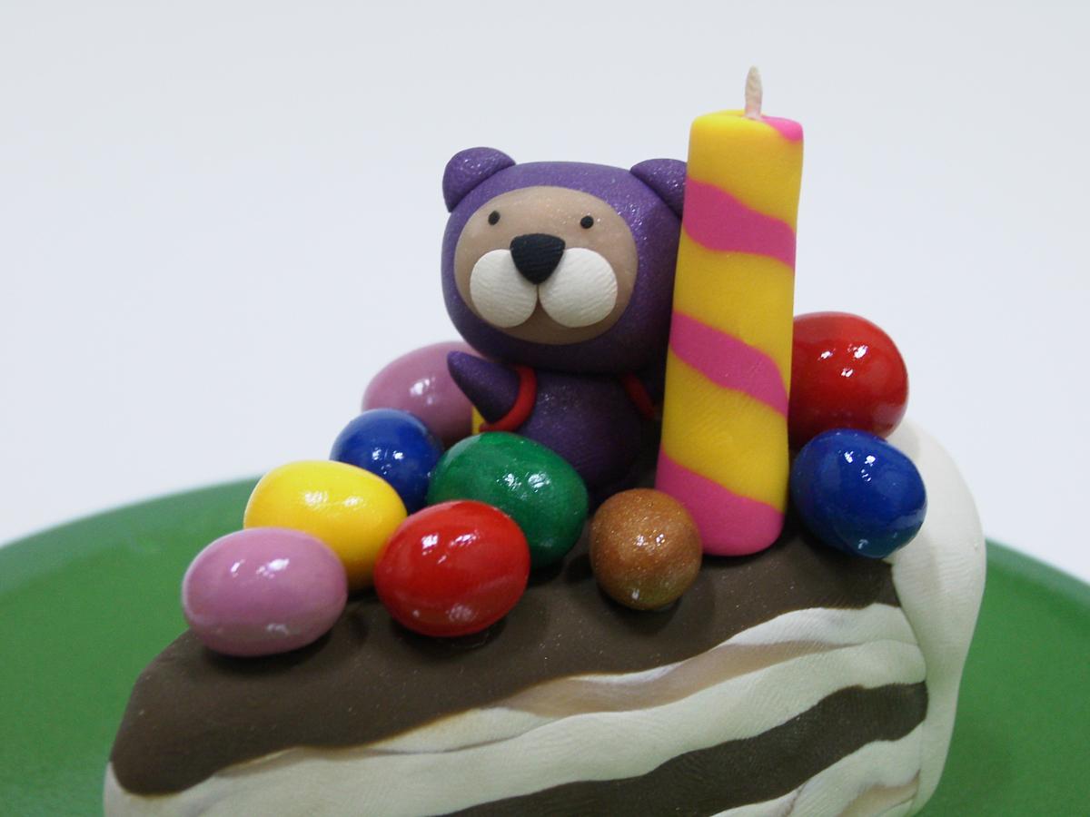 Yummy Cake 06-7, 20x20x18cm, polymer clay, 2006.JPG