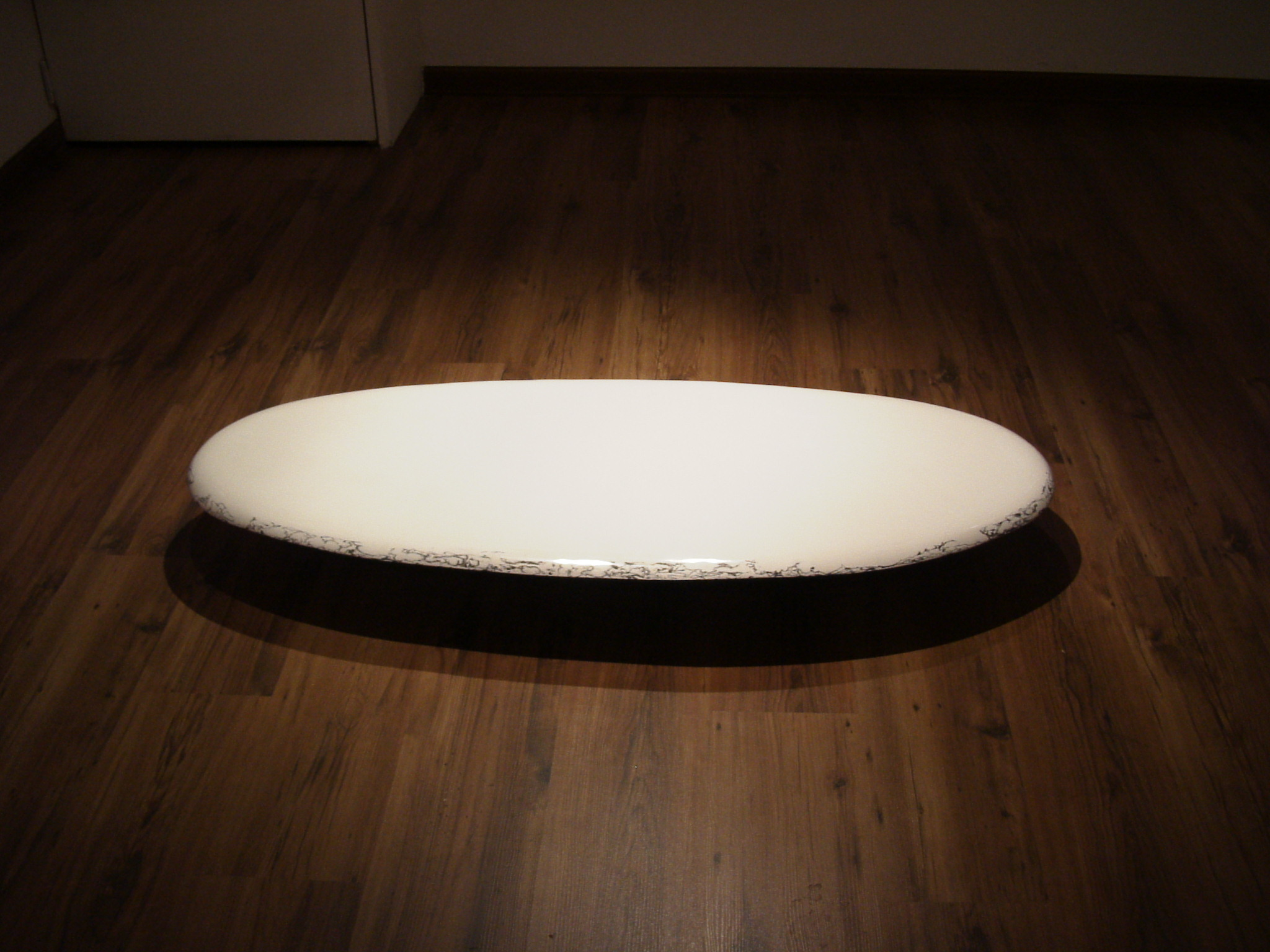 A Respiration of the Earth 04-2, 92x45x13cm, plaster, korean ink, 2004.JPG
