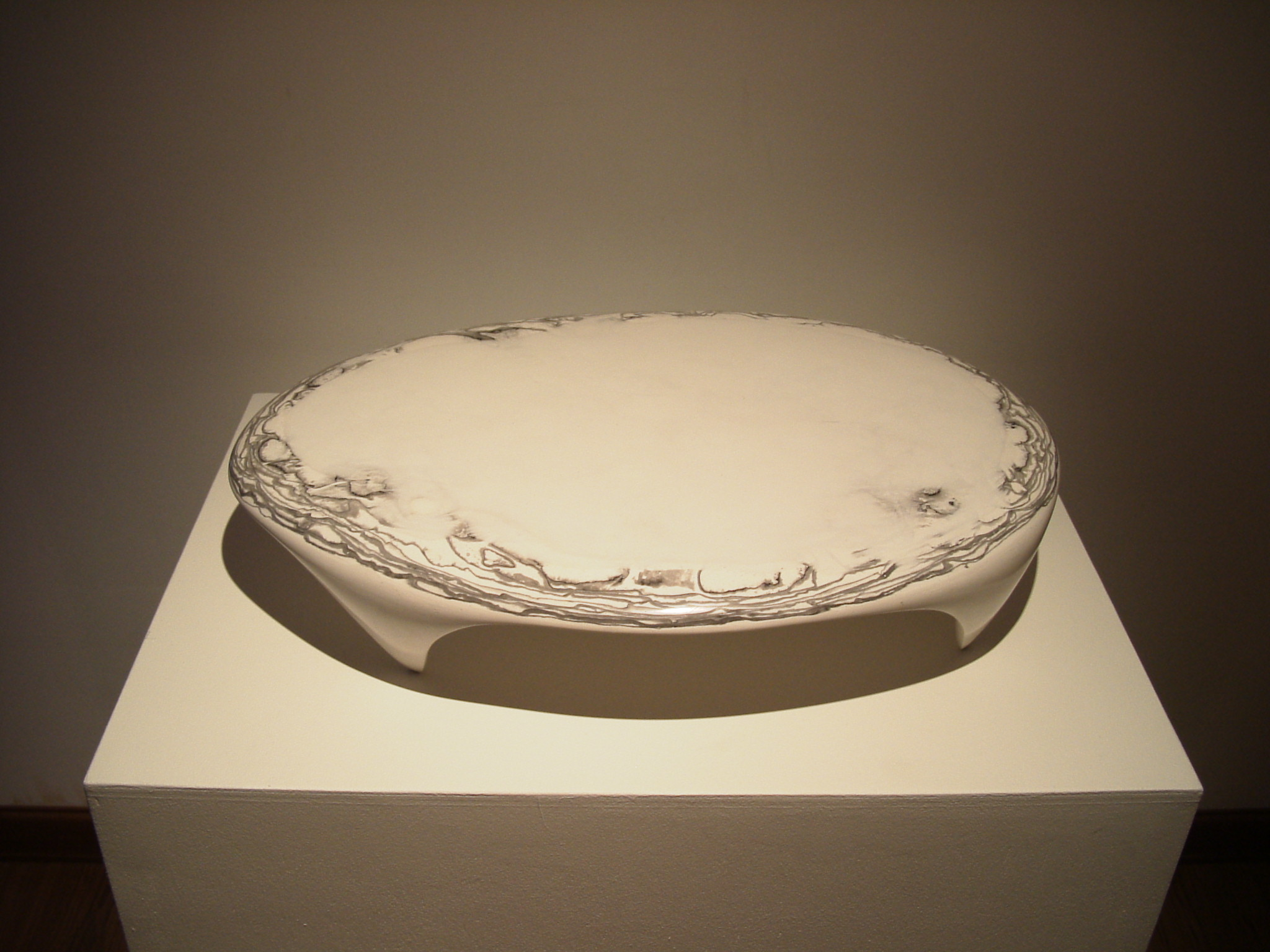 A Respiration of the Earth 04-8, 60x41x12cm, plaster, korean ink, 2004.JPG