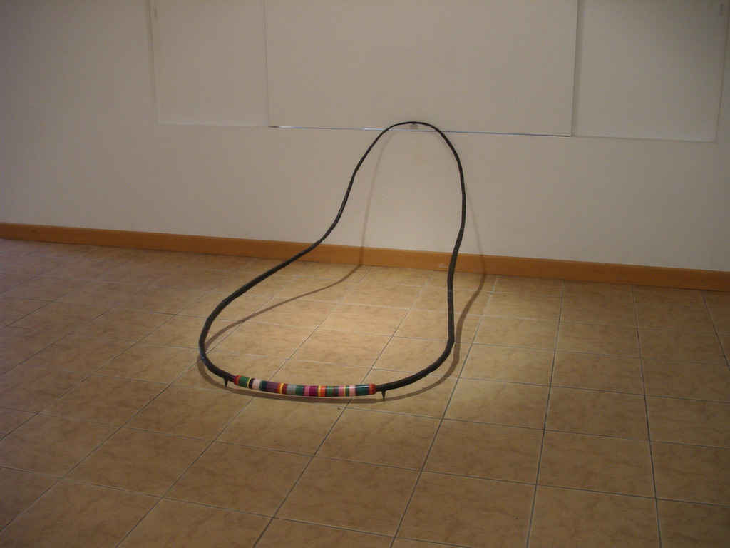 A Respiration of the Earth 04-19, 160x90x65cm, steel, polymer clay, 2004.JPG